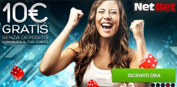 Casino netbet bonus senza deposito